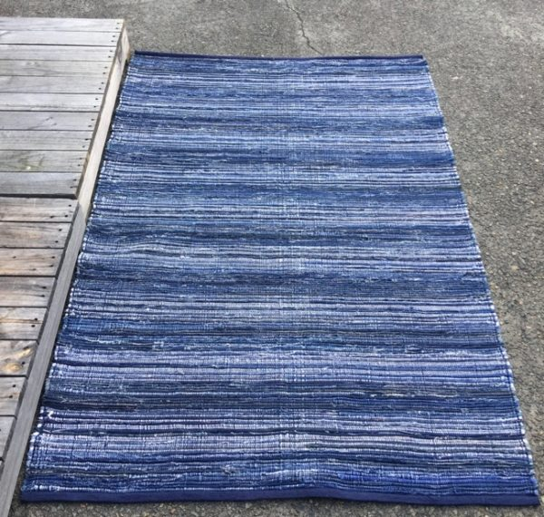 Floor Rug Denim Rag