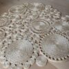 Handmade Jute Circle Flower Floor Mat/Rug