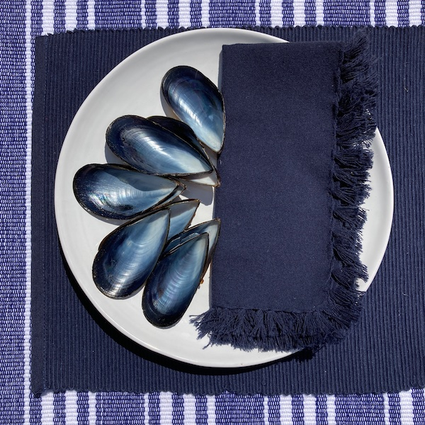 Ribbed Cotton Place Mat - Indigo