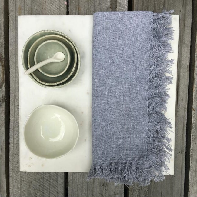 Napkin Cotton Plain Grey Marle