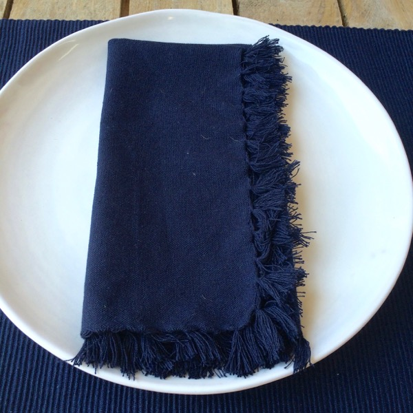 Napkin Cotton Plain Indigo