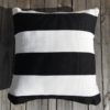 Outdoor Cushion Cover 50cm - B&W Deck Stripe - cover-only-cco03