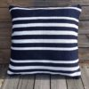 Outdoor Cushion Cover 50cm - Navy/White Hampton Stripe - cover-only-cco08