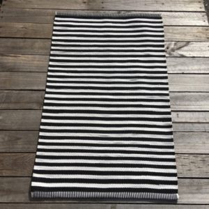 Outdoor Floor Mat - B&W Jetty Stripe1