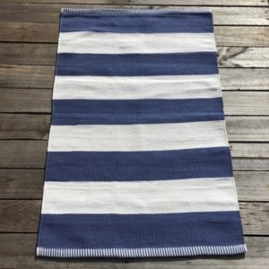Outdoor Floor Mat - Denim Deck Stripe