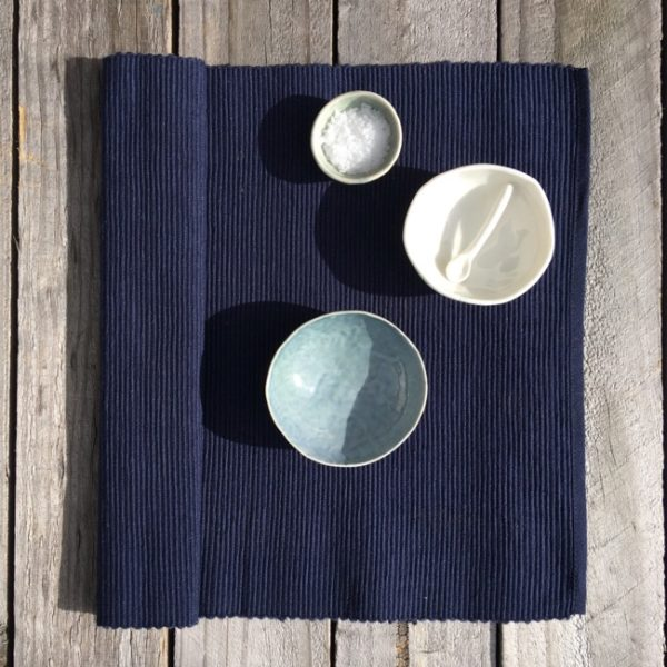 Placemat Cotton Rib Indigo