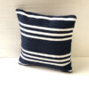 Outdoor Cushion Cover 60cm - Navy/White Hampton Stripe - cover-only-cco07
