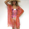 Kaftan Chiffon KAF03 - pink-orange-stripe