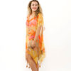 Kaftan Chiffon KAF03 - yellow-orange-poppy