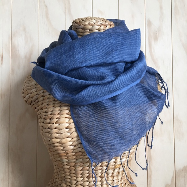 scarf linen denim