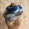 Scarf Silk Cotton - indigo-grey-tie-dye-sca19