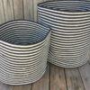 storage basket set B&W jetty stripe