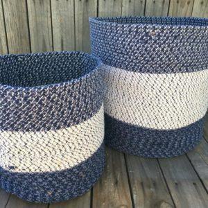 storage basket set cotton