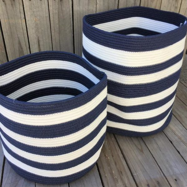 storage basket set hampton stripe