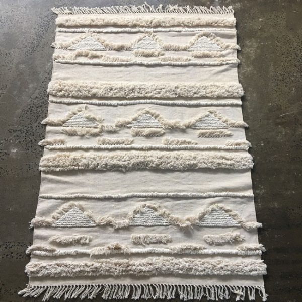 Cotton Tufted Floor Rug - Natural