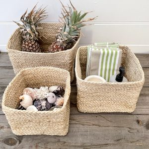 Handmade Jute basket Set Square