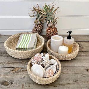 Handmade Jute basket Set Round