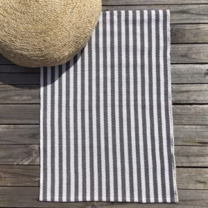 Cotton Mat - Byron Charcoal