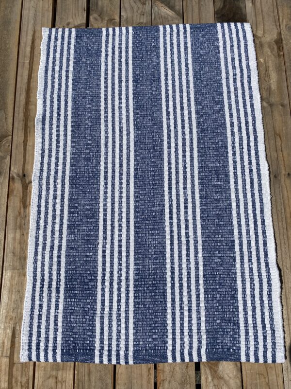 Lorne Blue White small mat - 60x90