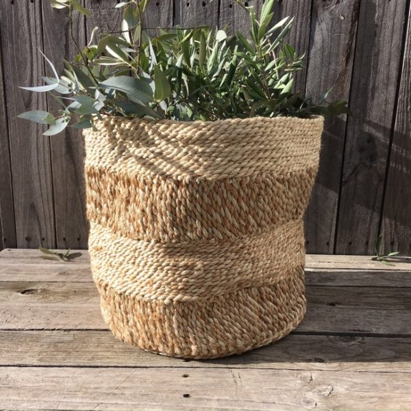 Jute Storage Basket - Spice & Natural