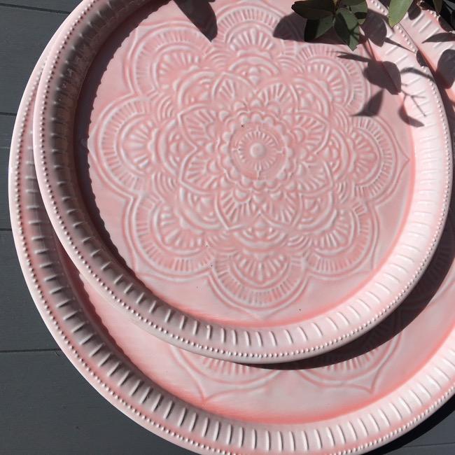 Metal Platter - Soft Pink