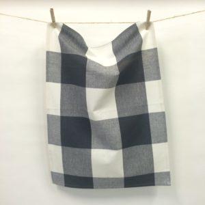 Tea Towel - Charcoal Check