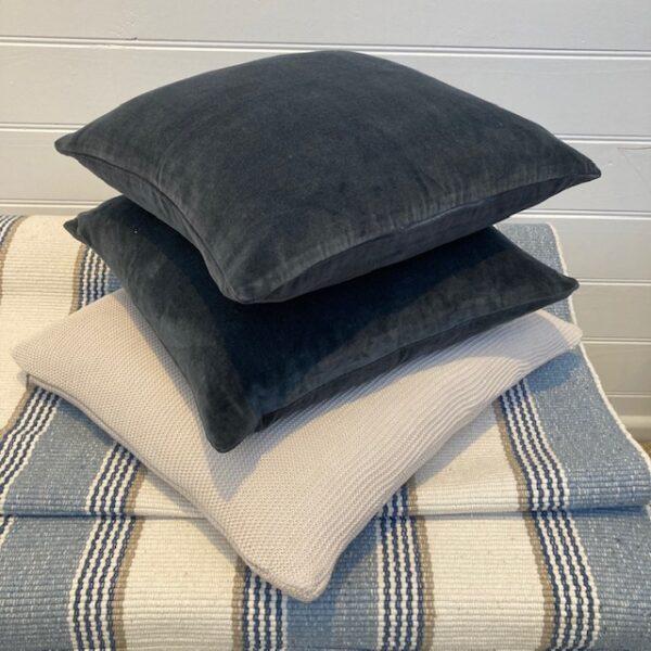 Velvet Cushion Cover - Midnight