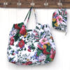 XXL Beach Bag - White Floral