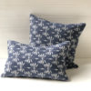 Date Palm Cushion Cover - Navy Blue