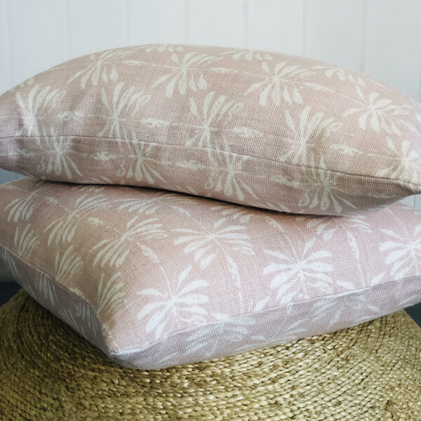Linen Date Palm Cushion Cover