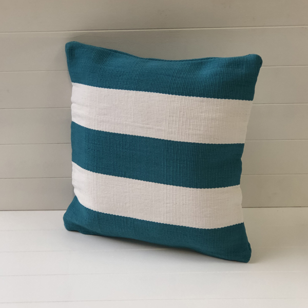 Outdoor Cushion Cover - Peacock Stripe