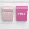 Small Post box - Hot & Soft Pink