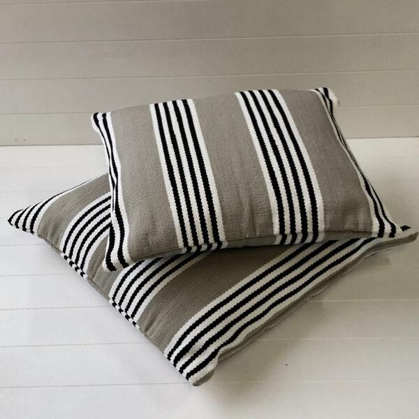 Outdoor Cushion Cover - Durban Sand Black Stripe