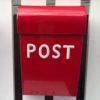 Post Box - Large - red