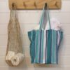 Washable Cotton Shopping Bag Pack of 2 - blue-bay