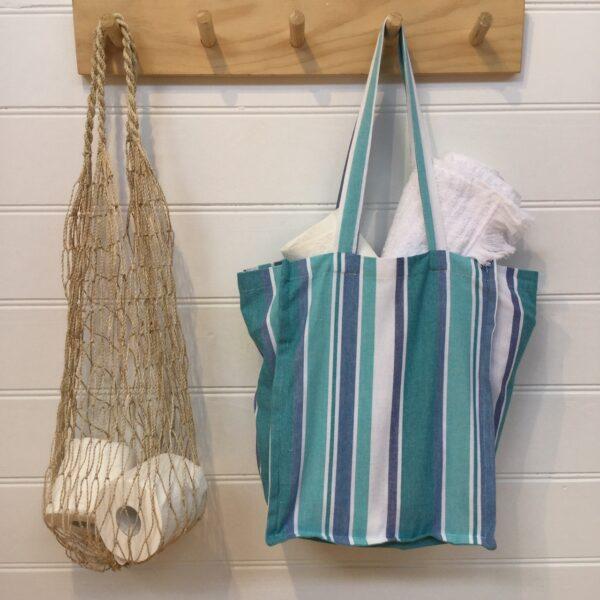 Washable Shopper Bag -Blue Bay