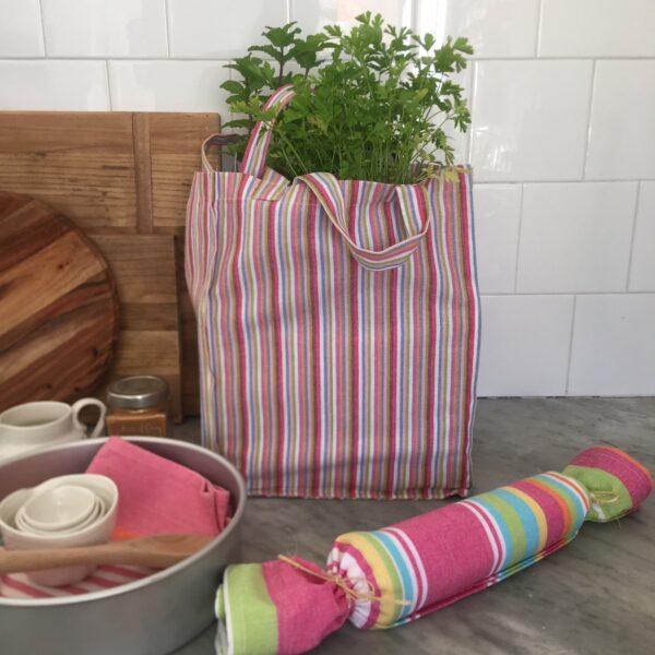 Washable Cotton Shopping Bag -Fruit Salad