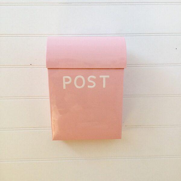 Large Post Box - Pale Pink