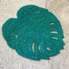 Large green jute place mat