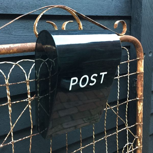 Large Lockable Black Post Box