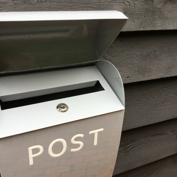 Large Grey Lock Post Box