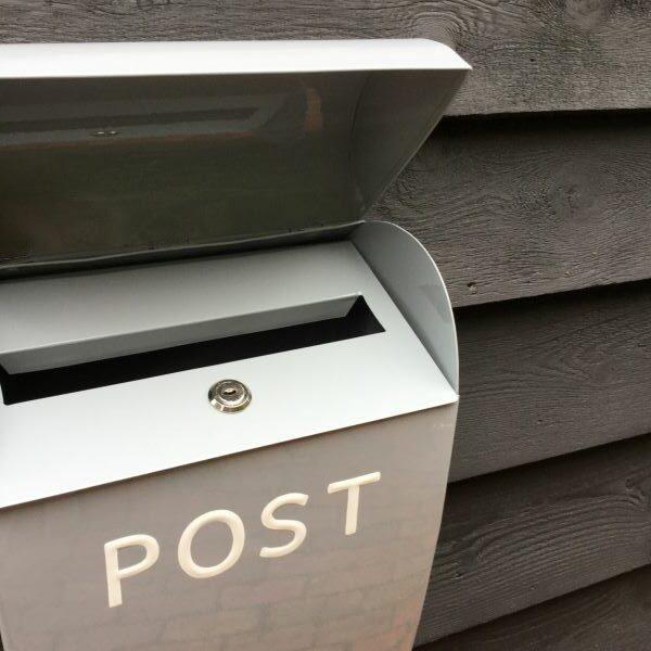Large Grey Lock Post Box