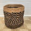 Jute Rope Storage Basket 35cm - black-natural-bas26