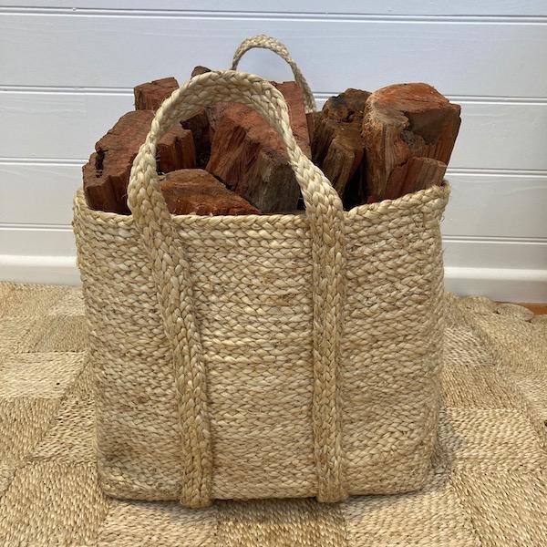 Handmade Jute Square Storage Basket -Set of 2
