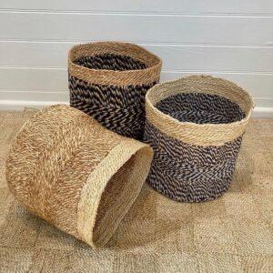 Handmade Jute Storage Rope basket