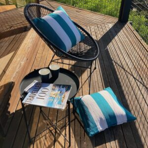 Peacock Deck Stripe Outdoor PP Cushion Cover