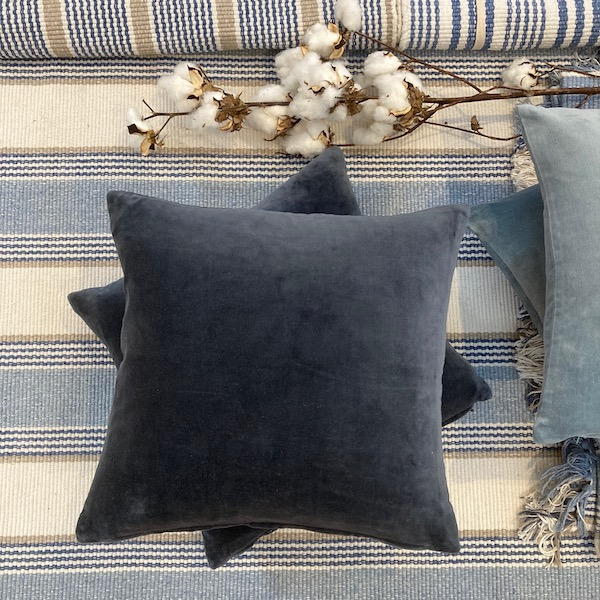 Velvet Cushion Cover - Midnight