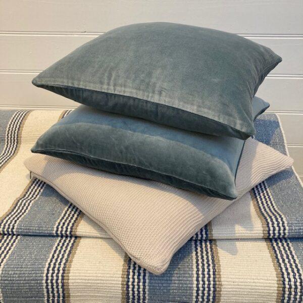 Velvet Cushion Cover - Ice Blue