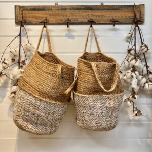 Handmade Jute Zig Zag Basket