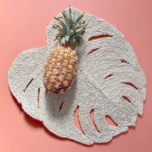handmade jute natural palm placemat